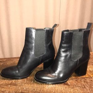 Cole Haan Grand OS Black Leather Boots 7.5